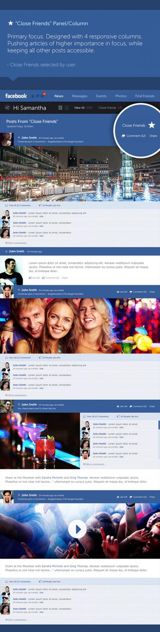 """Giao diện Facebook """"tái thiết kế"""" đẹp mắt 5"""
