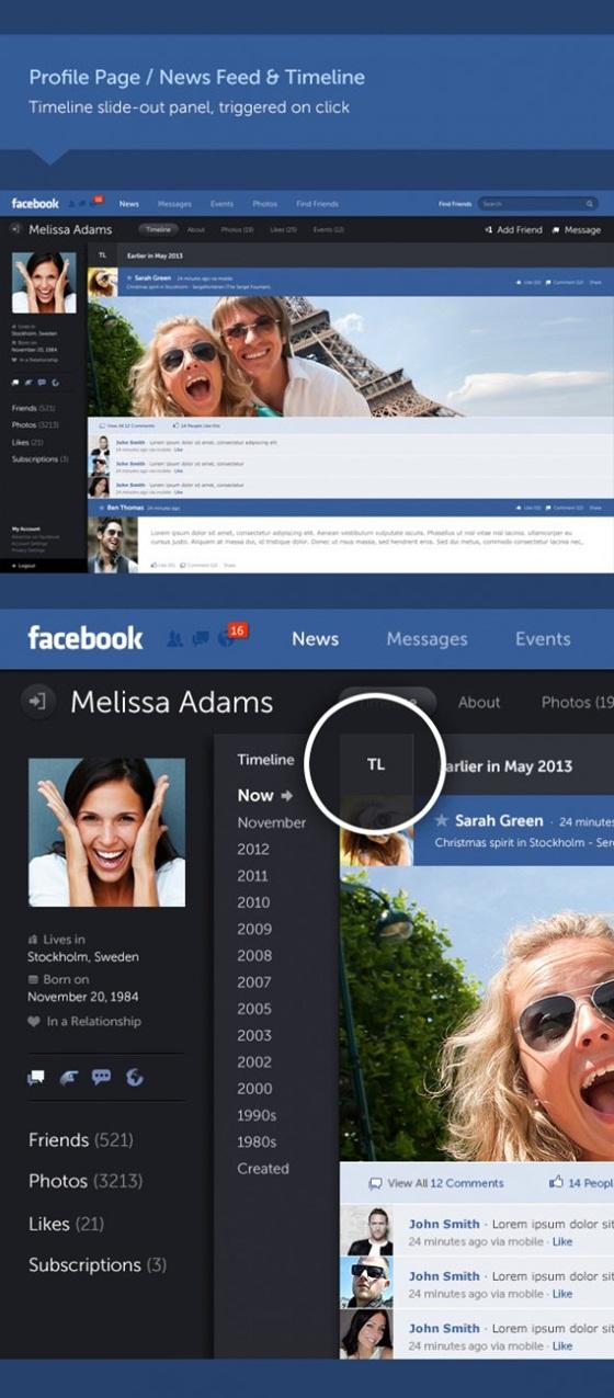 """Giao diện Facebook """"tái thiết kế"""" đẹp mắt 8"""