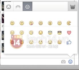 Facebook cập nhật bảng Sticker cho phiên bản máy tính 3