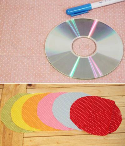 Hộp đựng giấy xinh xắn làm từ đĩa CD cũ 2