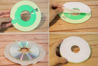 Hộp đựng giấy xinh xắn làm từ đĩa CD cũ 6