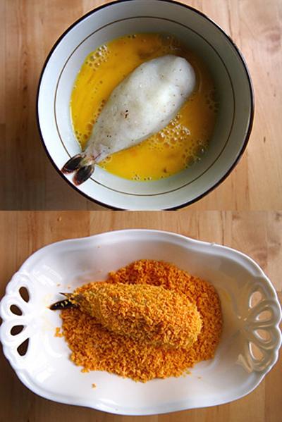 Ăn tôm bọc khoai tây giòn rụm thơm lừng 6