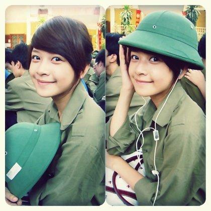Ngỡ ngàng hot girl Việt giản dị mà cực dễ thương khi mặc quân phục 6