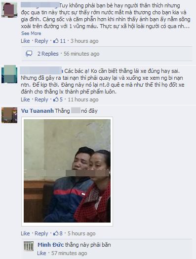 Bạn trai cô gái bị xe đâm ở Xã Đàn đau xót trước tai nạn của người yêu 3