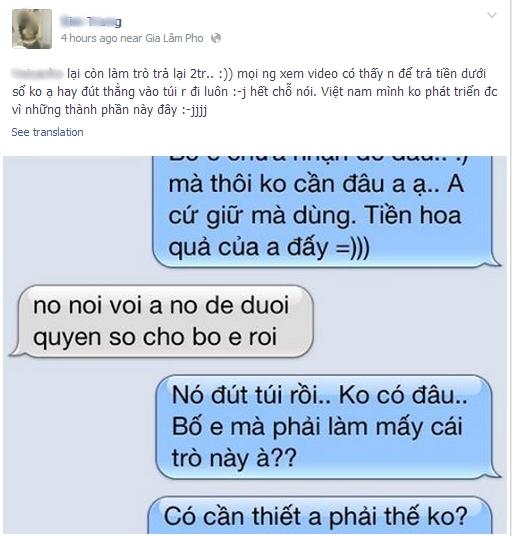 """Cô gái Hà Nội tung clip bạn trai """"đại gia"""" cho người đến tận nhà đòi lại quà 5"""