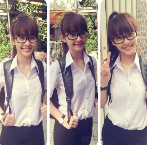 Ngắm hot girl Việt mặc đồng phục giản dị nhưng vẫn cực xinh 10