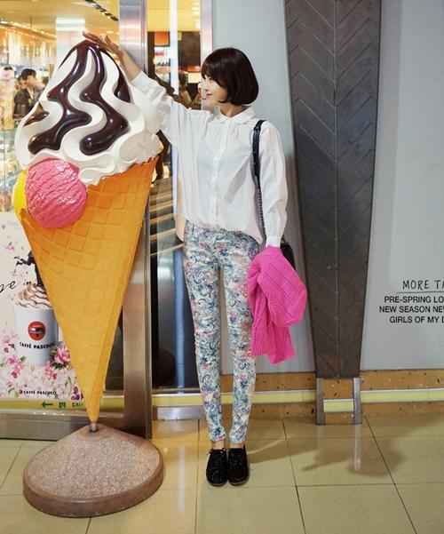 101 kiểu phối đồ cùng giày đế bệt phong cách như Jessica - SNSD 10