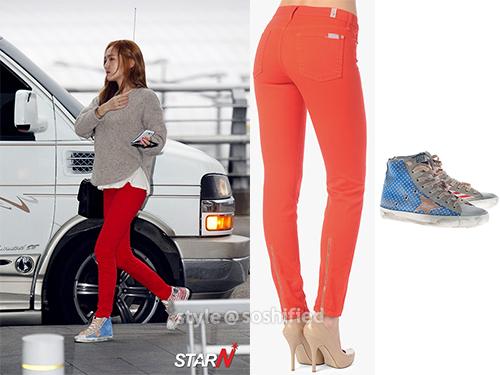 101 kiểu phối đồ cùng giày đế bệt phong cách như Jessica - SNSD 14