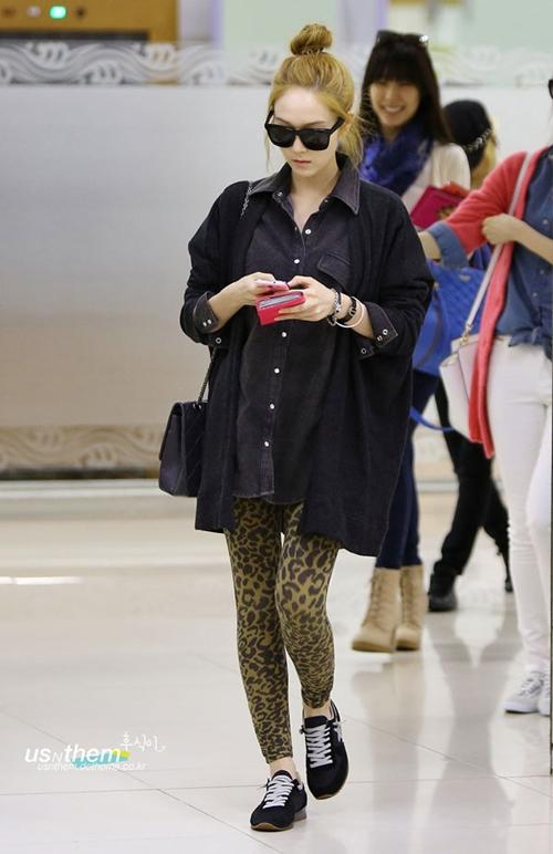 101 kiểu phối đồ cùng giày đế bệt phong cách như Jessica - SNSD 15