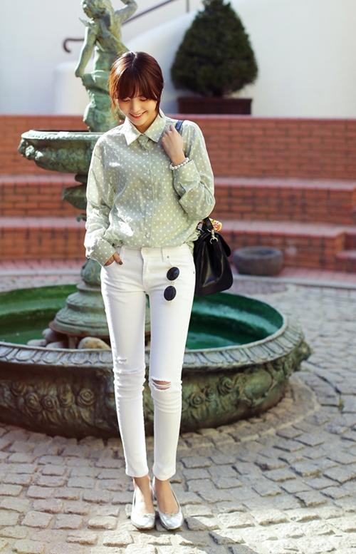 101 kiểu phối đồ cùng giày đế bệt phong cách như Jessica - SNSD 32