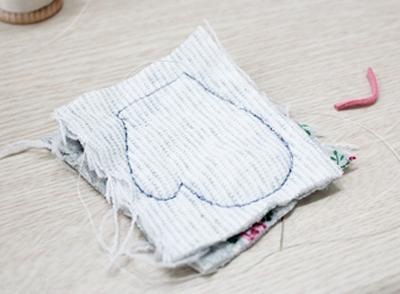 Xinh xinh móc khóa đôi găng tay mini 2