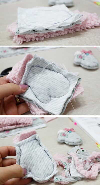 Xinh xinh móc khóa đôi găng tay mini 6