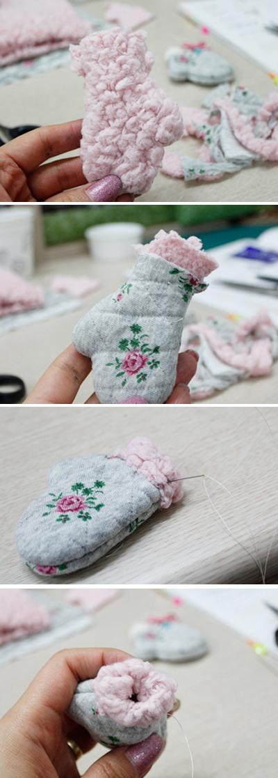 Xinh xinh móc khóa đôi găng tay mini 7