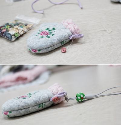 Xinh xinh móc khóa đôi găng tay mini 8