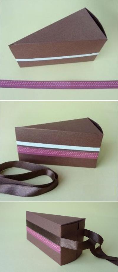 Tự chế hộp quà miếng bánh ngọt ngào đáng yêu 5