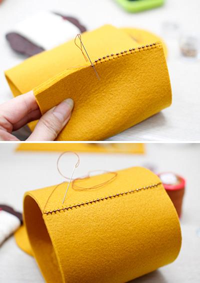 Tự chế hộp đựng đồ bằng vải gọn gàng đáng yêu 4