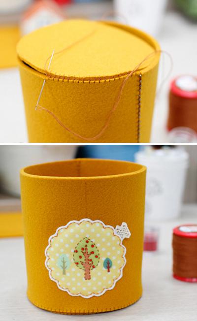 Tự chế hộp đựng đồ bằng vải gọn gàng đáng yêu 5
