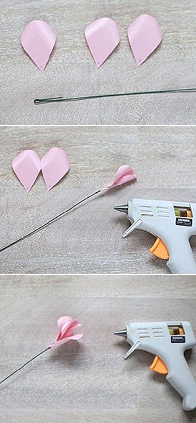 Ý tưởng làm tranh hoa hồng giấy đi tỏ tình lãng mạn 5
