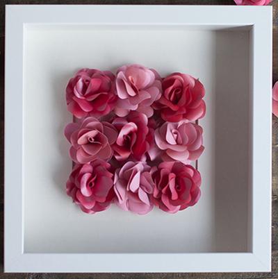 Ý tưởng làm tranh hoa hồng giấy đi tỏ tình lãng mạn 8