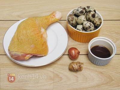 Gà kho trứng cút đậm đà đưa cơm 1