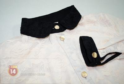 Chi tiết cách may áo sơ mi ren dịu dàng nữ tính 17