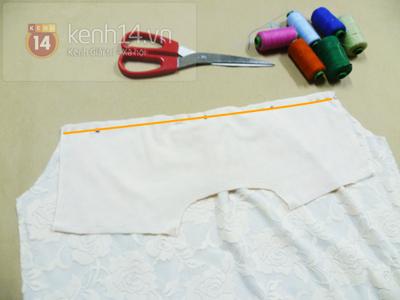 Chi tiết cách may áo sơ mi ren dịu dàng nữ tính 4