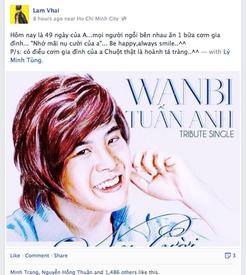 Facebook lắng đọng trước 49 ngày Wanbi Tuấn Anh 3