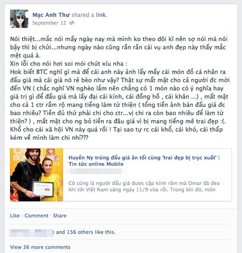 "Chuyện tình Yanbi - Andrea, ""trai đẹp"" Omar gây bão Facebook 13"