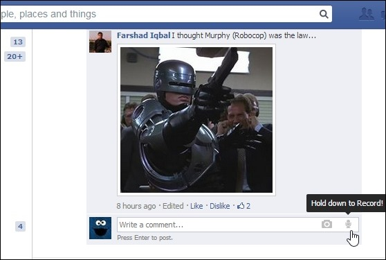 Thú vị với cách thức bình luận bằng giọng nói trên Facebook 3