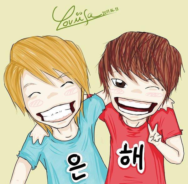 Ngất ngây loạt ảnh chibi của các cặp đôi thần tượng Nam xứ Hàn 59