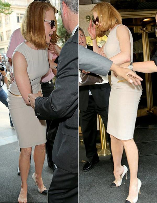 Nicole Kidman ngã bổ nhào vì bị paparazzi tông xe 9