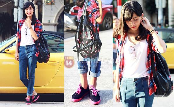 Street style thu của giới trẻ Hà Nội ngập tràn đồ denim 7