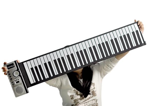 Đàn Piano điện tử có thể cuộn lại được như giấy 3