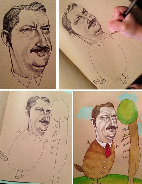 """Mẹ """"song kiếm hợp bích"""" với con gái 4 tuổi để vẽ tranh 1"""