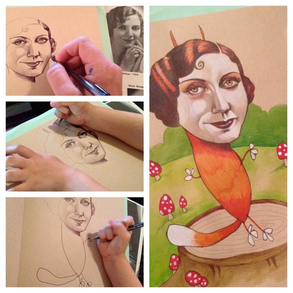 """Mẹ """"song kiếm hợp bích"""" với con gái 4 tuổi để vẽ tranh 2"""