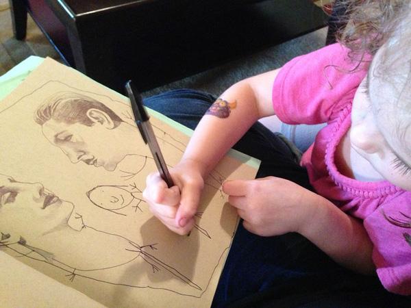 """Mẹ """"song kiếm hợp bích"""" với con gái 4 tuổi để vẽ tranh 8"""