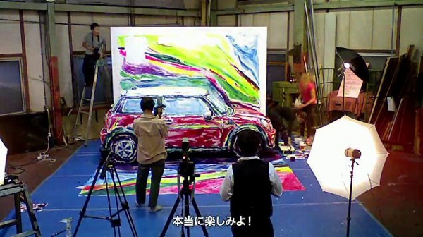Nghệ sĩ biến ô tô và người thành tranh vẽ 5