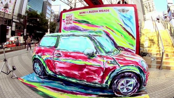 Nghệ sĩ biến ô tô và người thành tranh vẽ 7