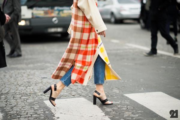 """9 cách mặc kẻ caro """"chuẩn"""" như fashionista 22"""