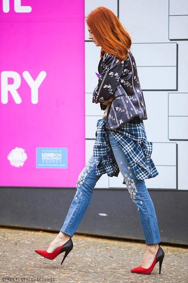 """9 cách mặc kẻ caro """"chuẩn"""" như fashionista 6"""