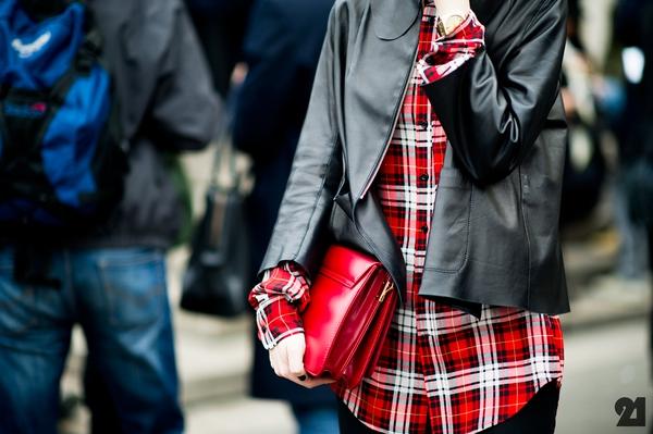 """9 cách mặc kẻ caro """"chuẩn"""" như fashionista 1"""
