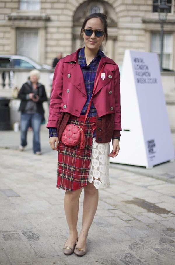 """9 cách mặc kẻ caro """"chuẩn"""" như fashionista 8"""
