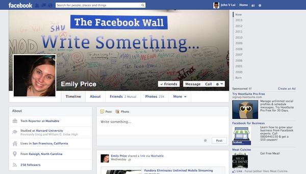 Facebook tiếp tục đổi giao diện mới 1