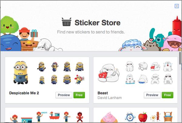 Facebook cập nhật bảng Sticker cho phiên bản máy tính 4