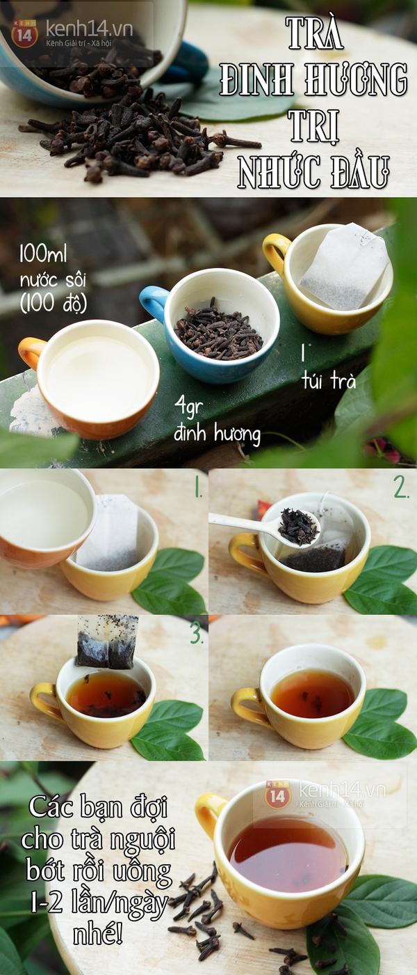 Làm trà đinh hương xoa dịu cơn đau đầu 1