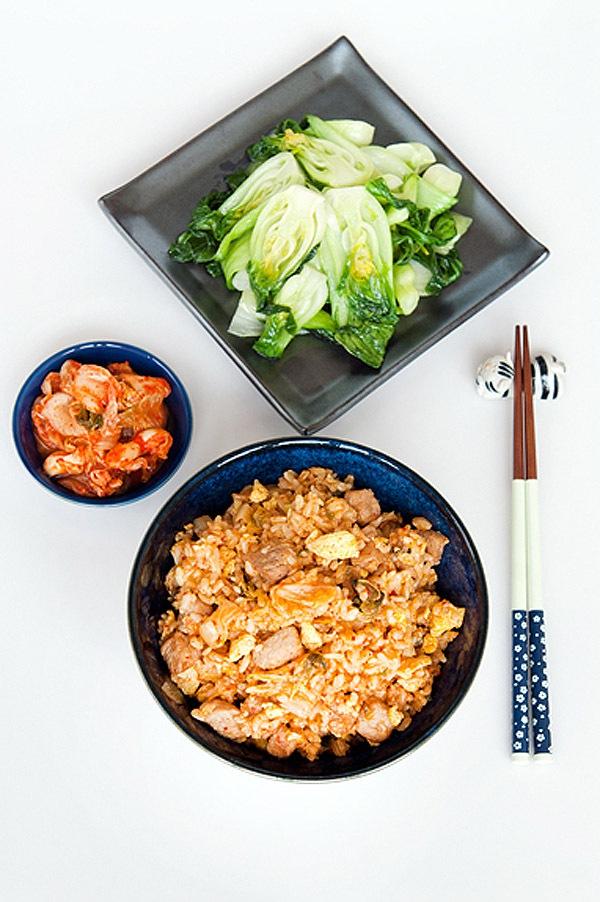Công thức cơm chiên kimchi cay cay ngon tuyệt 8