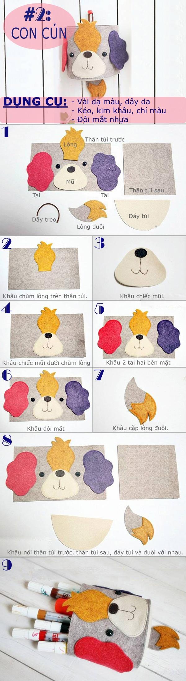 Sưu tập cách làm các kiểu túi treo ngộ nghĩnh tiện ích 2
