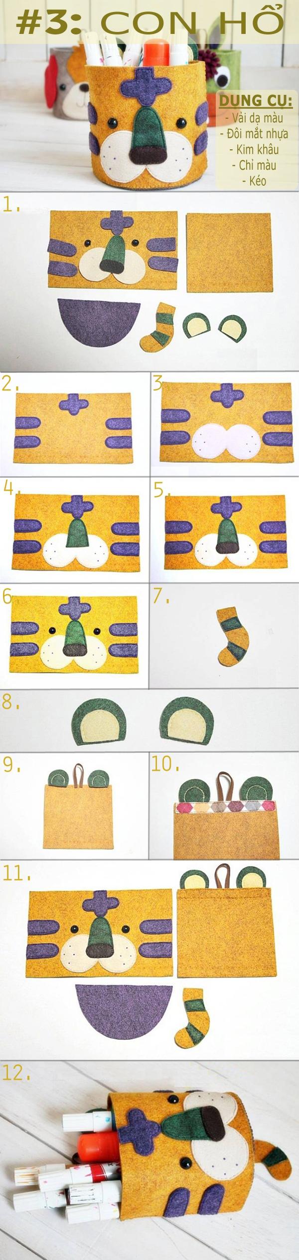 Sưu tập cách làm các kiểu túi treo ngộ nghĩnh tiện ích 3
