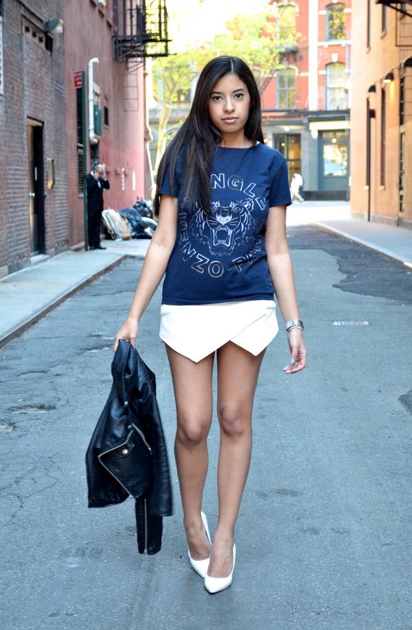 """Skort - Chiếc quần """"tràn ngập"""" street style thế giới Hè 2013 17"""