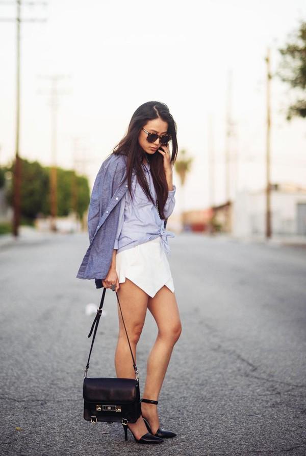 """Skort - Chiếc quần """"tràn ngập"""" street style thế giới Hè 2013 21"""
